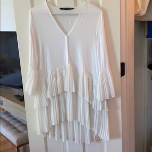 Zara white oversized top/can be worn as dress